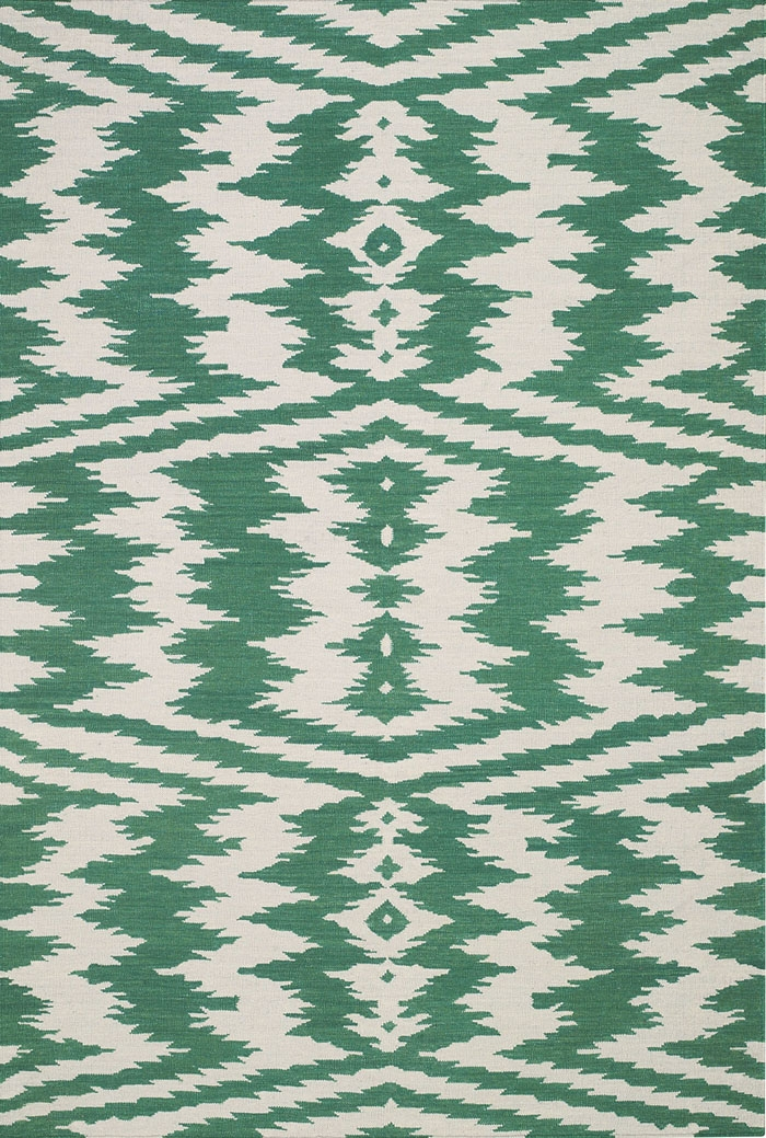 Capel Junction 3625 225 Dark Green Rug