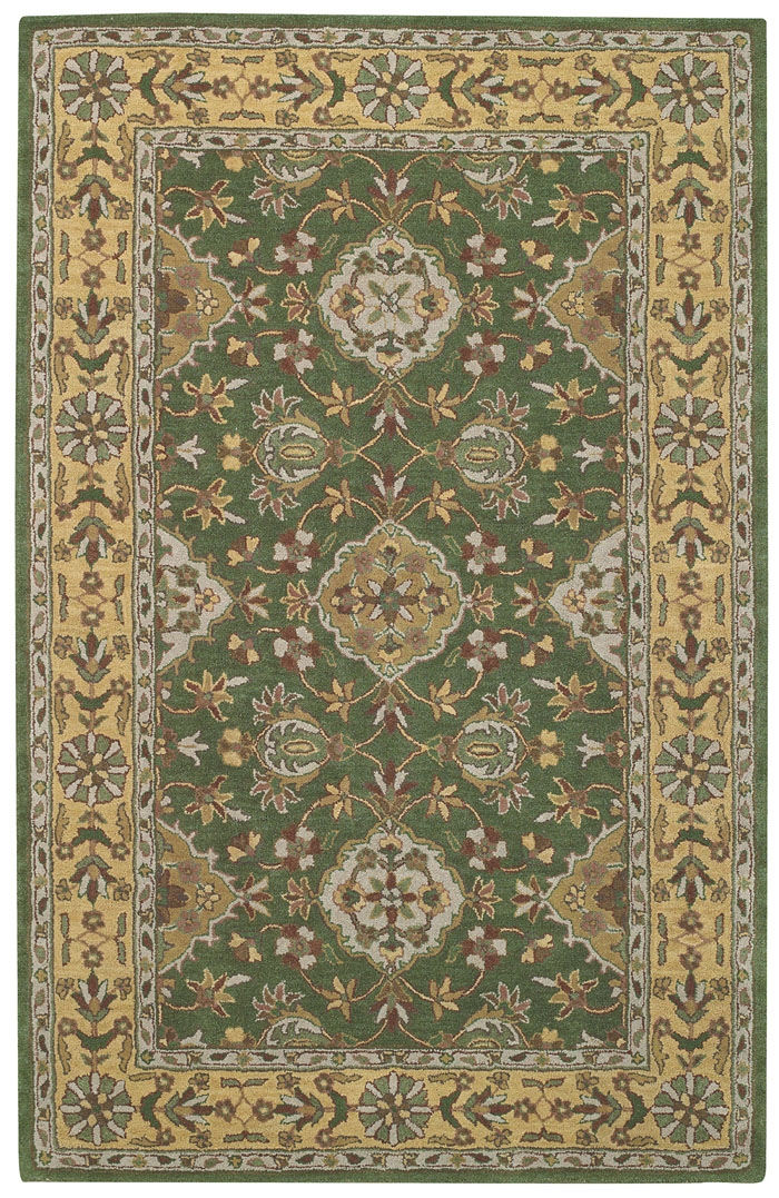 Capel Kingship 3031 275 Green Gold Rug