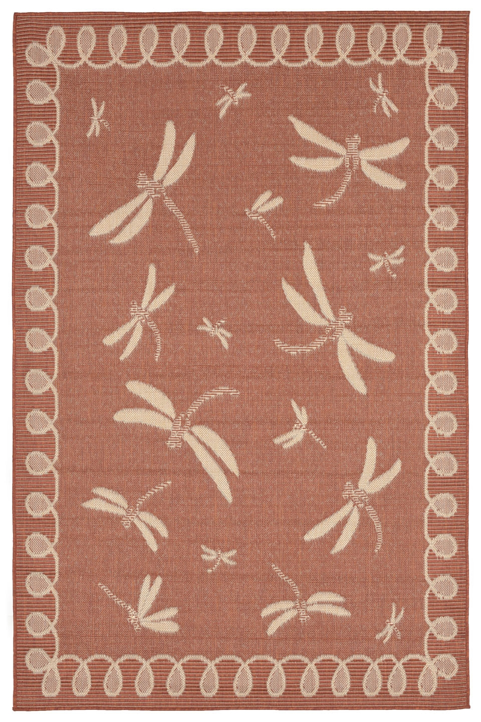 Transocean Terrace 1791/74 Dragonfly Terracotta Rug