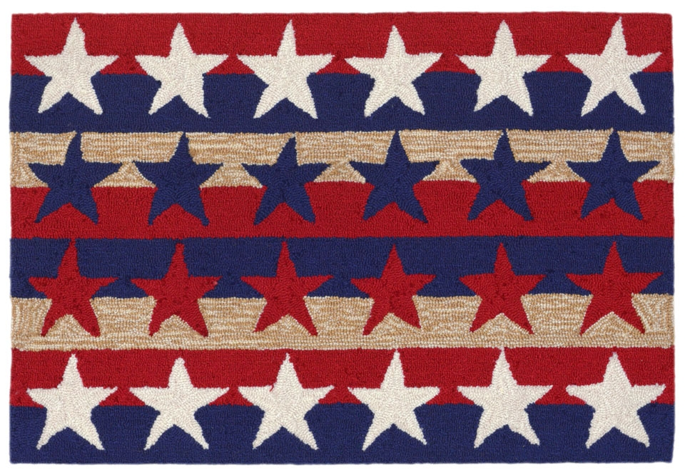Transocean Frontporch 1804/14 Stars & Stripes Americ Rug