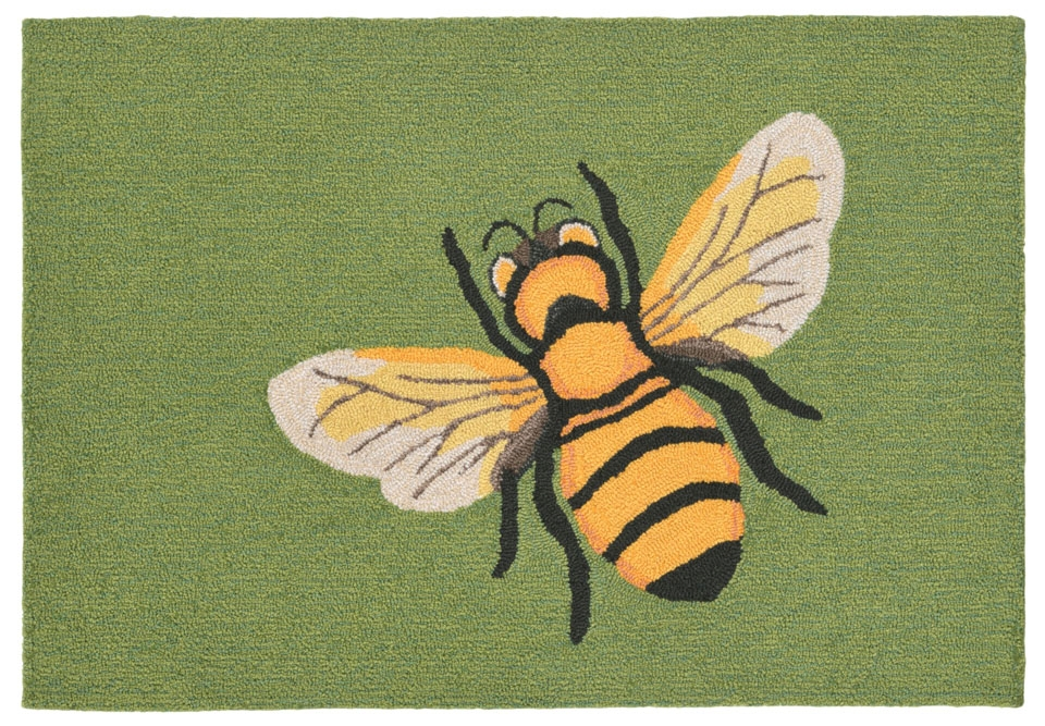 Transocean Frontporch 1816/06 Bee Green Rug