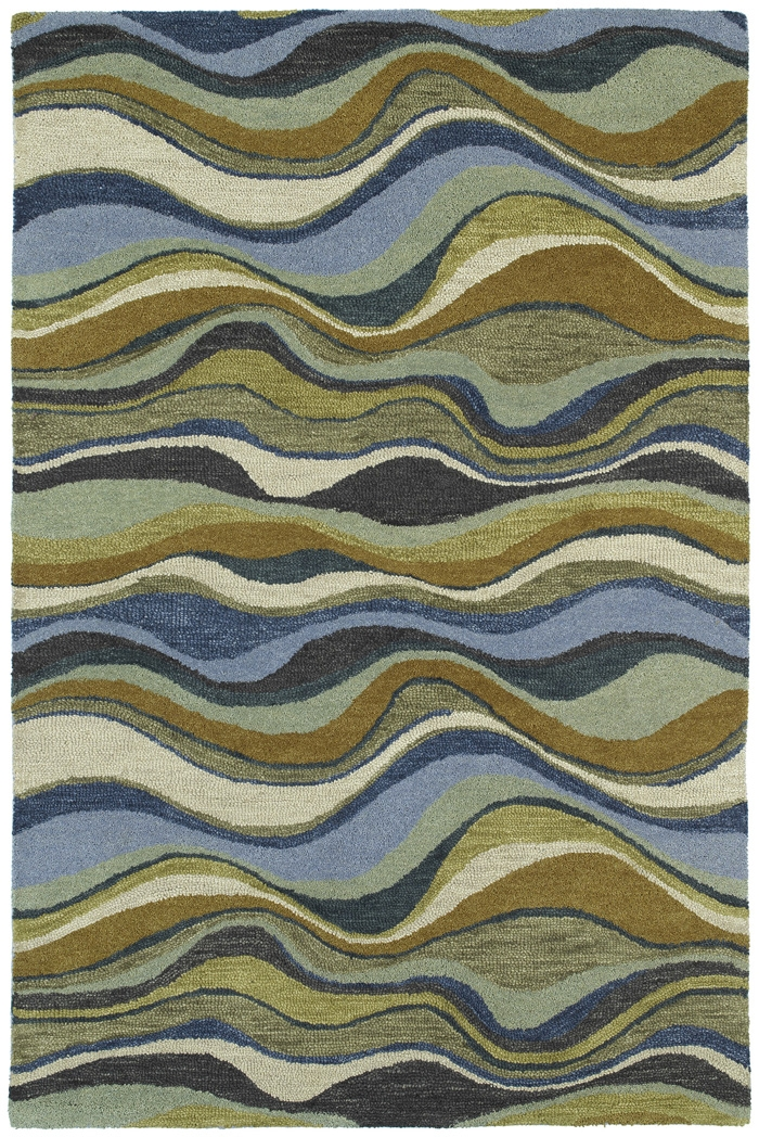 Casual 5050 17 Alder Blue Rug by Kaleen