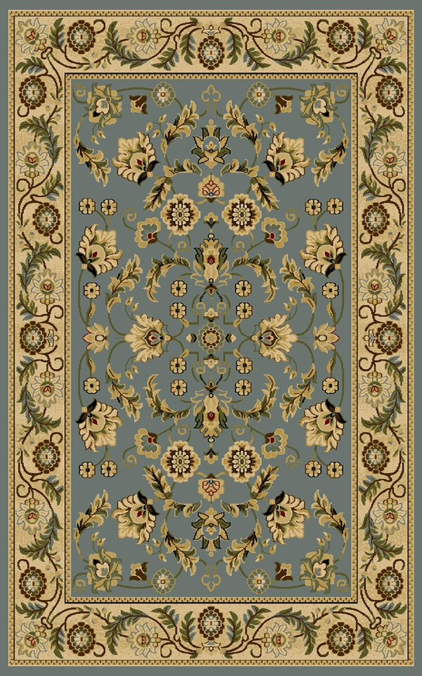 Cambridge 8805Bl Blue Rug By Interlude