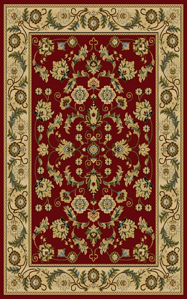 Cambridge 8805Rd Red Rug By Interlude