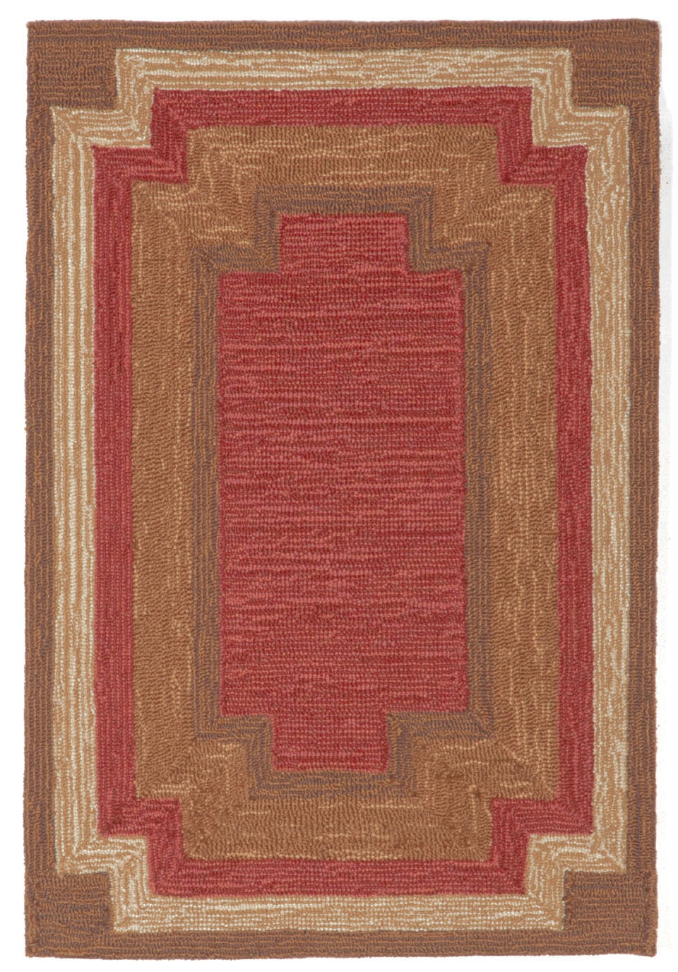 Ravella Border 1905/24 Red Rug by Trans-Ocean