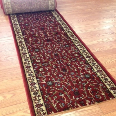 Clover Farms Red - 26 Inch Wide Finished Runner - Price is Per Foot
