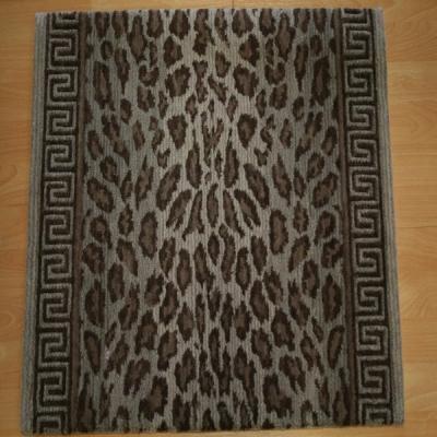 Animal print carpet runner custom stair carpet runners for Leopard print carpet stair runner