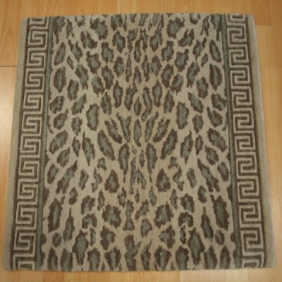 Best Congo Wild Skins Taupe With Cheetah Stair Runner.