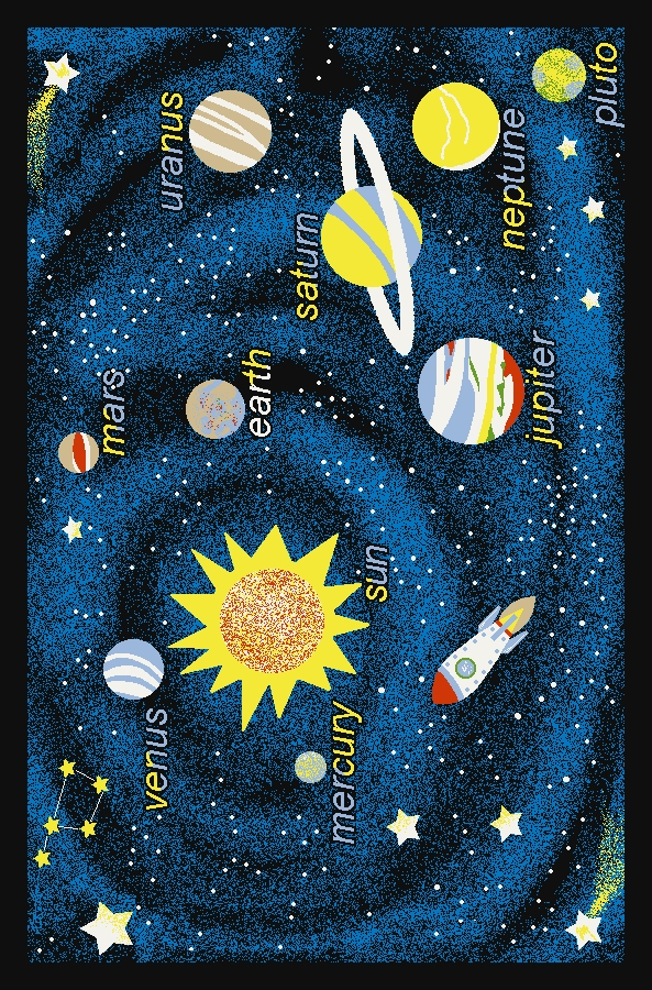 Concord Fun Time 853 Outer Space Navy Area Rug