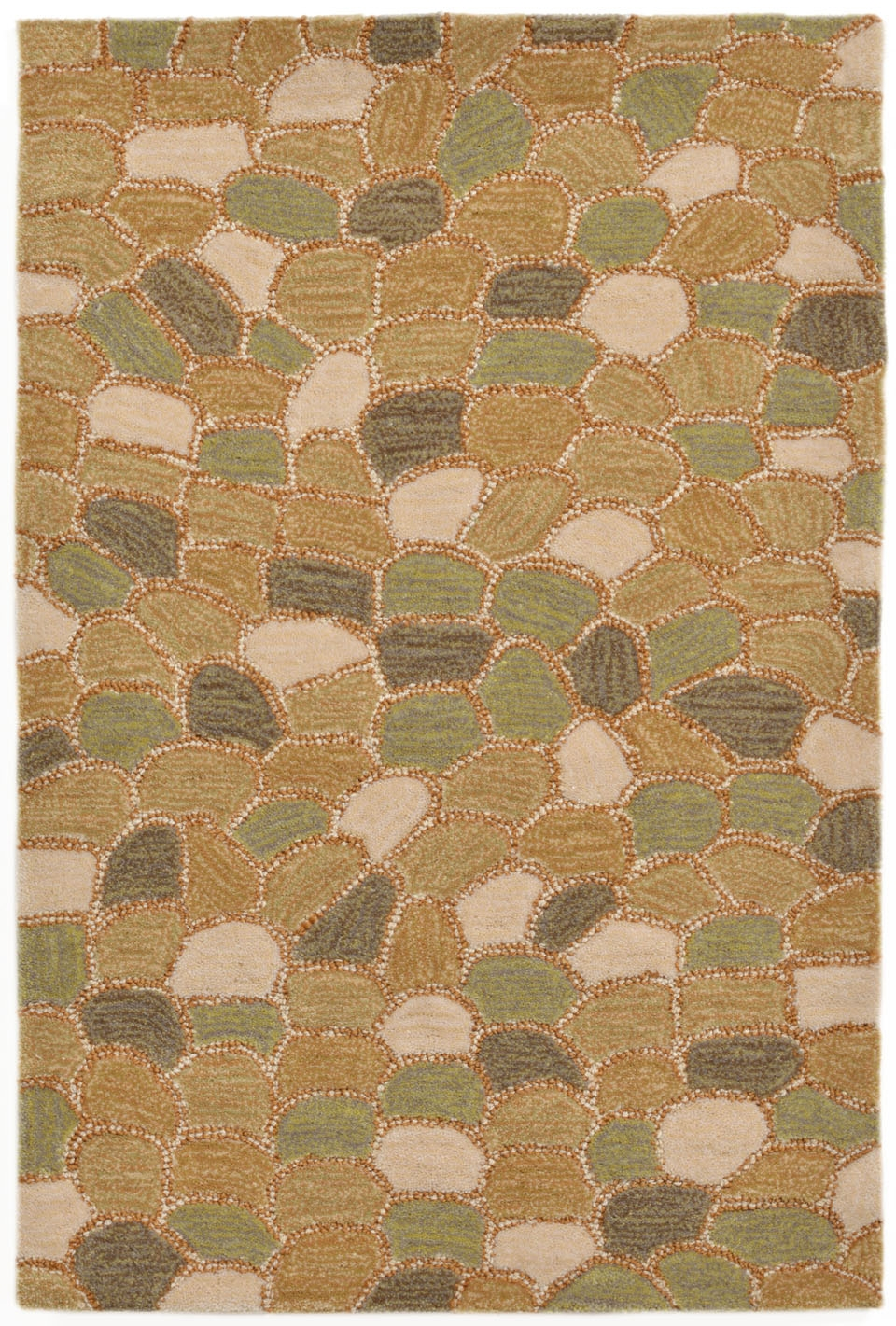 Trans-Ocean Spello 1965/03 Pebbles Blue Area Rug