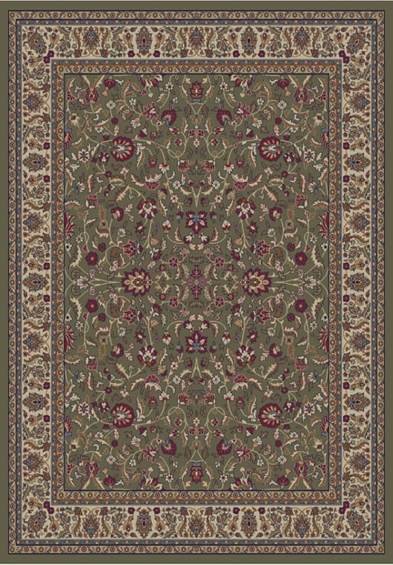 Concord Jewel 4065 Kashan Green Area Rug