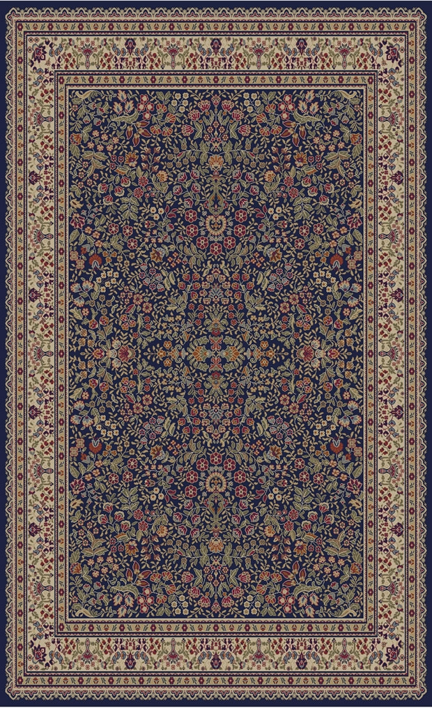 Concord Jewel 4114 Sarouk Navy Area Rug