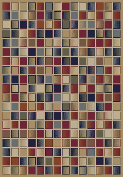 Concord Jewel 4171 Checkboard Gold Area Rug