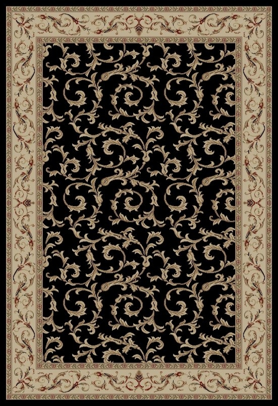 Concord Jewel 4393 Veronica Black Area Rug