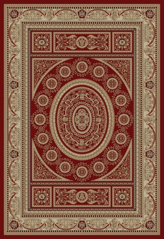 Concord Jewel 4410 Aubusson Red Area Rug