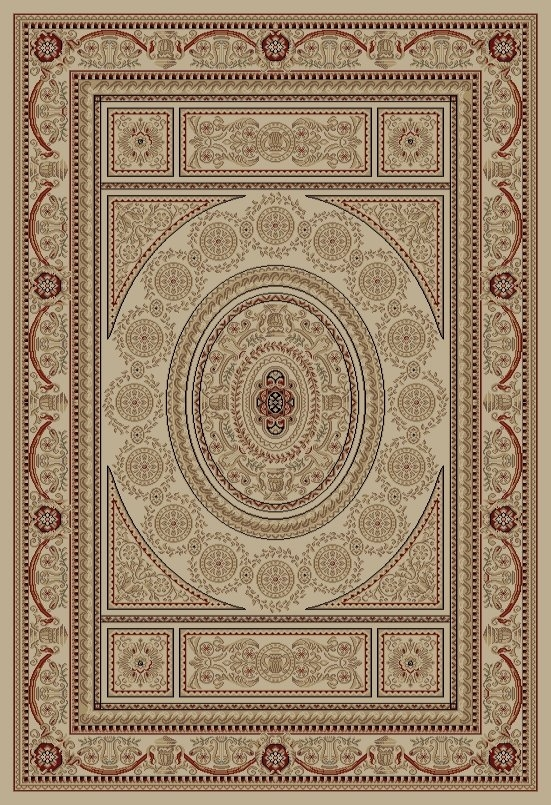 Concord Jewel 4412 Aubusson Ivory Area Rug