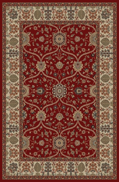 Concord Jewel 4900 Voysey Red Area Rug