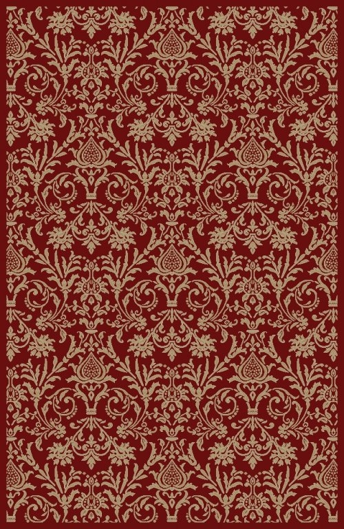 Concord Jewel 4940 Damask Red Area Rug