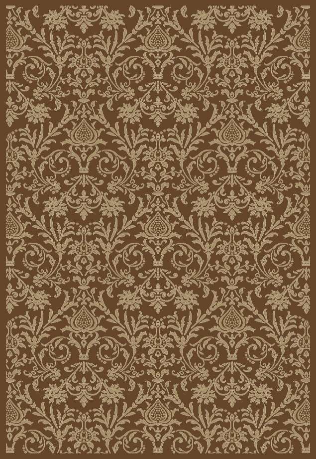 Concord Jewel 4948 Damask Brown Area Rug