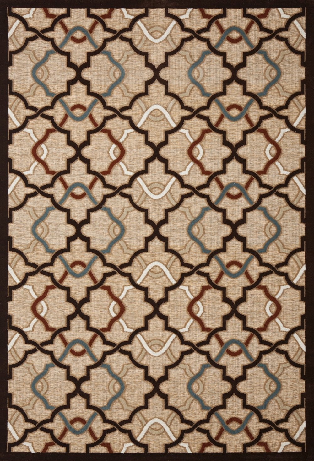 Concord Milano 5641 Diamonds Beige Area Rug