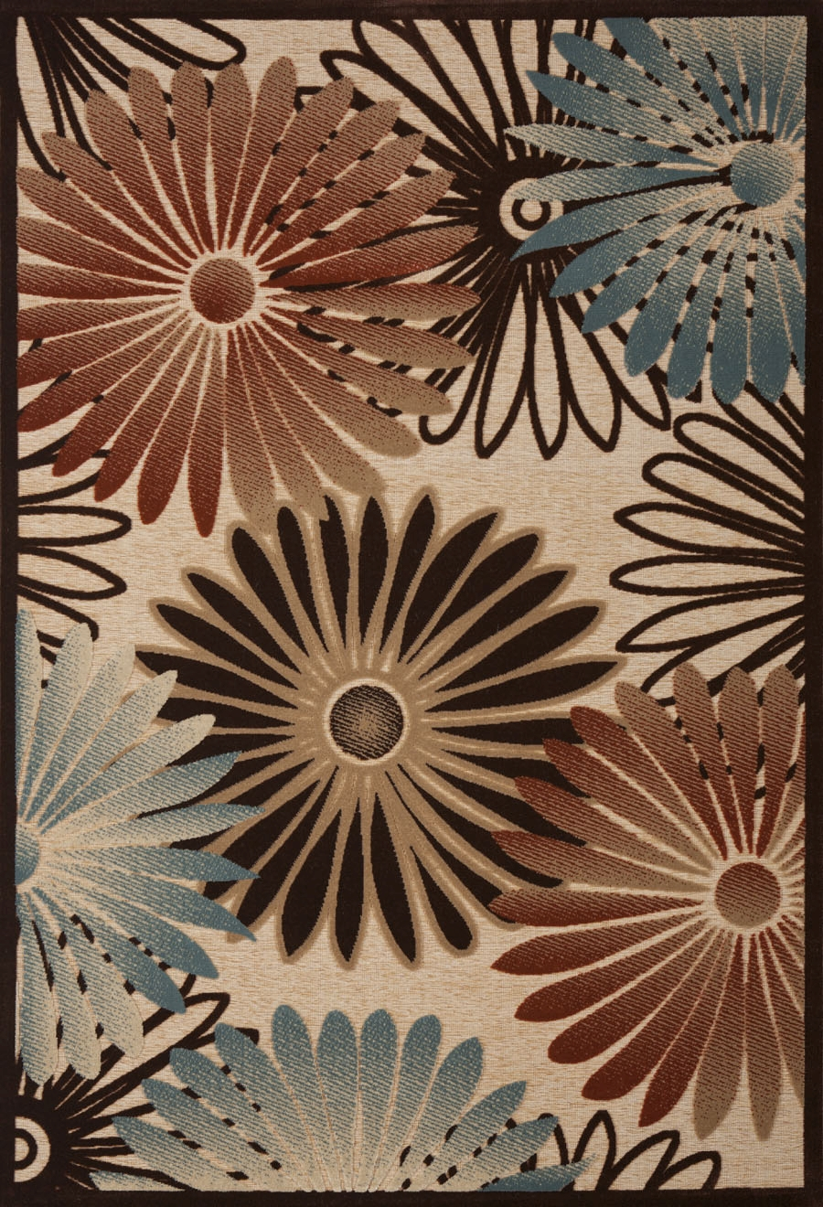 Concord Milano 5741 Flowers Beige Area Rug