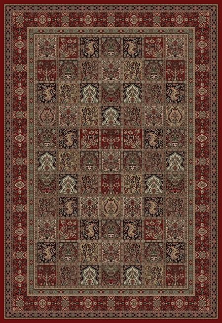 Concord Persian Classics 2040 Panel Red Area Rug