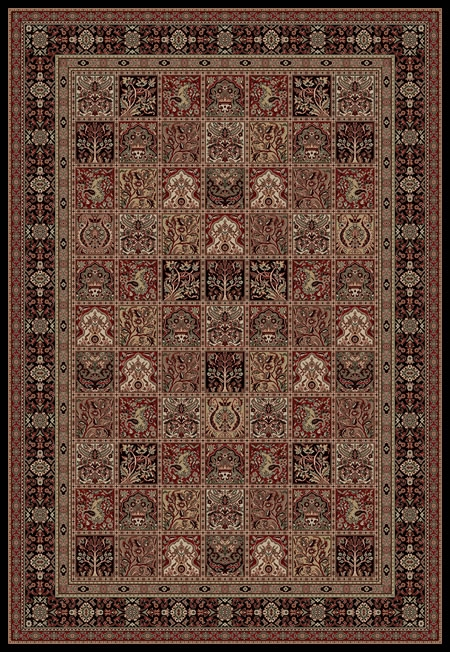 Concord Persian Classics 2043 Panel Black Area Rug