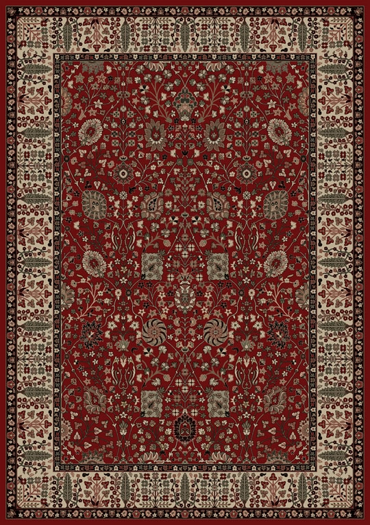 Concord Persian Classics 2050 Vase Red Area Rug