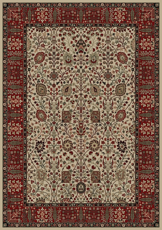 Concord Persian Classics 2052 Vase Ivory Area Rug