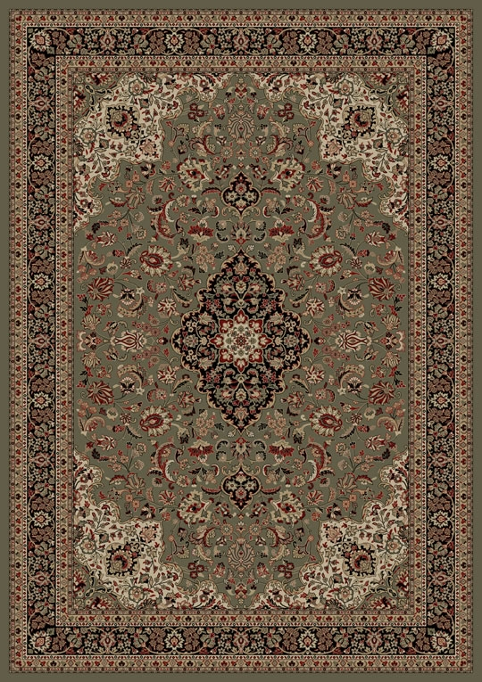 Concord Persian Classics 2085 Medallion Kashan Green Area Rug