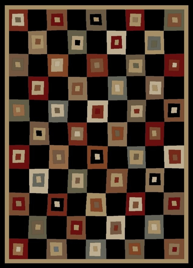 Concord Soho 6013 Village Square Black Area Rug