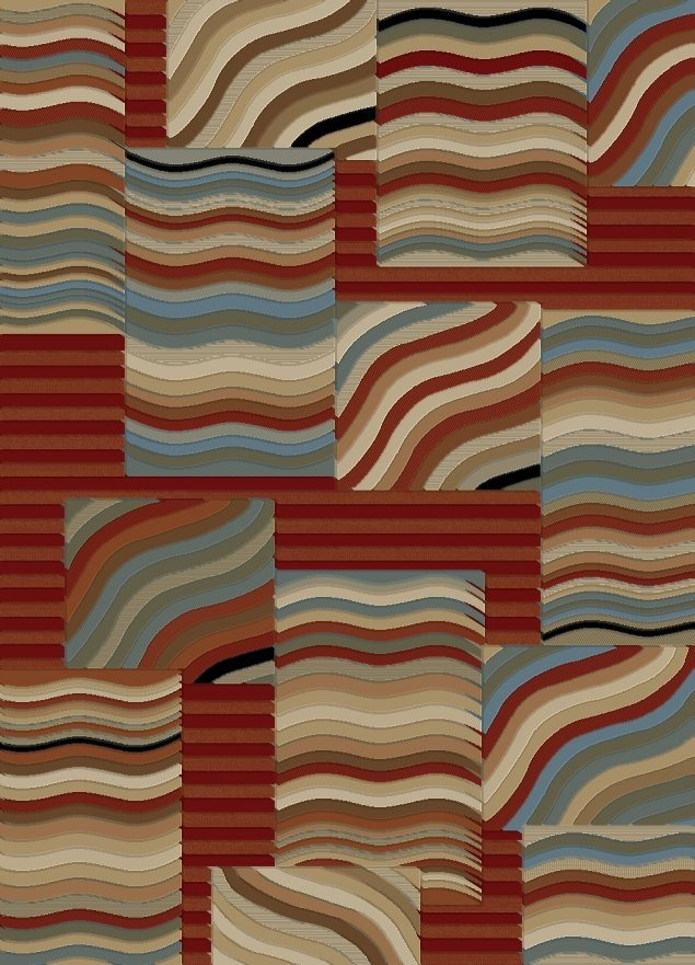 Concord Soho 6090 Waves Multi Area Rug