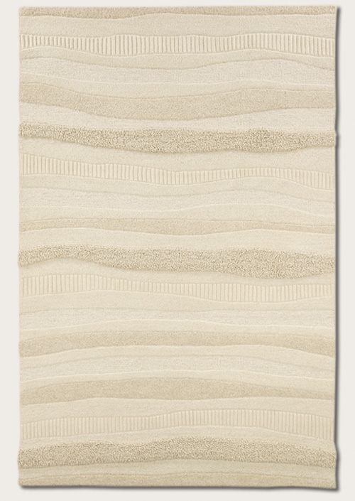 Impressions Stripe White 2150/9000 Super Indo Natural Rug by Couristan