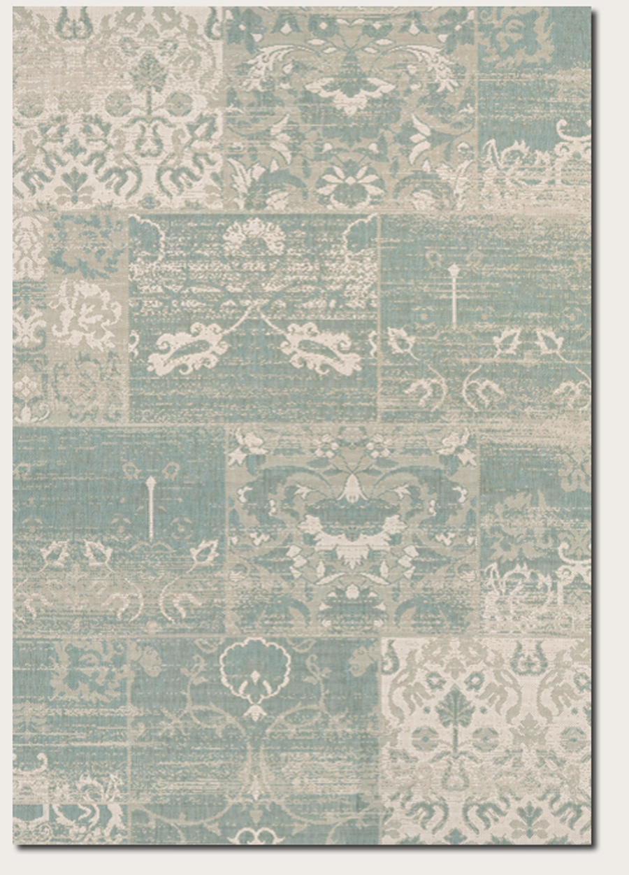 Couristan Afuera Country Cottage 5569 0803 Sea Mist Ivory Rug