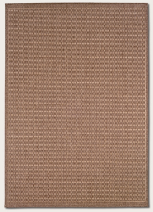 Recife Collection by Couristan: Saddle Stitch Cocoa Nautral 1001/1500 Recife Outdoor Rug by Couristan