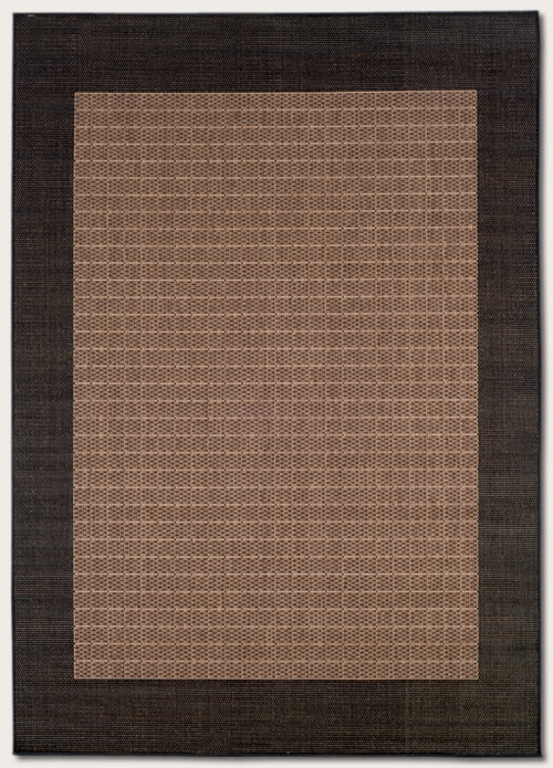 Recife Collection by Couristan: Checkered Field Cocoa Black 1005/2500 Recife Outdoor Rug by Couristan