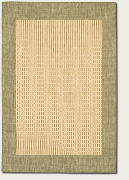 Recife Collection by Couristan: Checkered Field Natural Green 1005/5005 Recife Outdoor Rug by Couristan