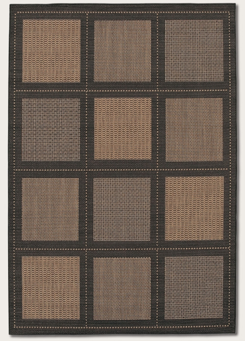 Recife Collection by Couristan: Summit Cocoa Black 1043/2500 Recife Outdoor Rug by Couristan