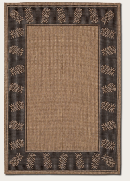 Recife Collection by Couristan: Tropics Cocoa Black 1177/2500 Recife Outdoor Rug by Couristan
