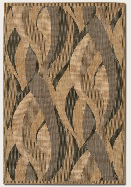 Recife Collection by Couristan: Seagrass Natural Black 1562/0154 Recife Outdoor Rug by Couristan