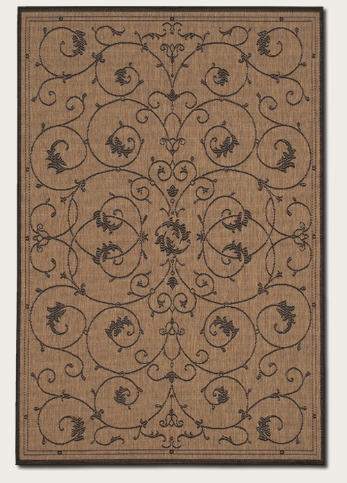 Recife Collection by Couristan: Veranda Cocoa Black 1583/2500 Recife Outdoor Rug by Couristan