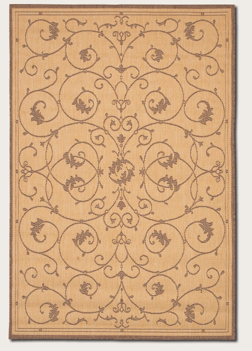 Recife Collection by Couristan: Veranda Natural Cocoa 1583/3000 Recife Outdoor Rug by Couristan