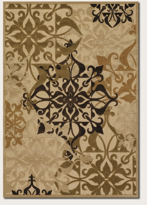 Urbane Collection by Couristan: Gatesby Sand Ivory 5714/0134 Urbane Outdoor Rug by Couristan
