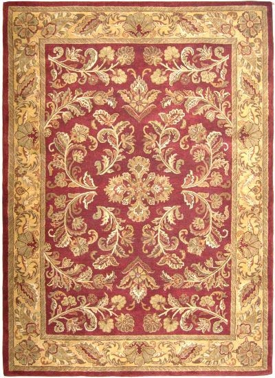 Nottingham NO-04 Burgundy/Gold Rug 5 ft x 8 ft Cyber Special