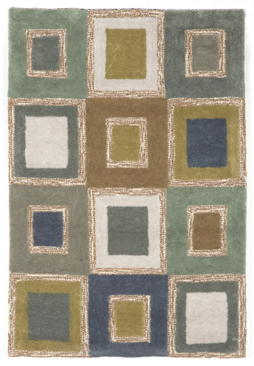 Spello Big Square 2055/04 Ocean Rug by Trans-Ocean