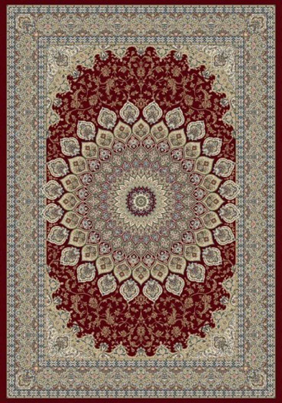 Dynamic Ancient Garden 57090 1484 Red Area Rug