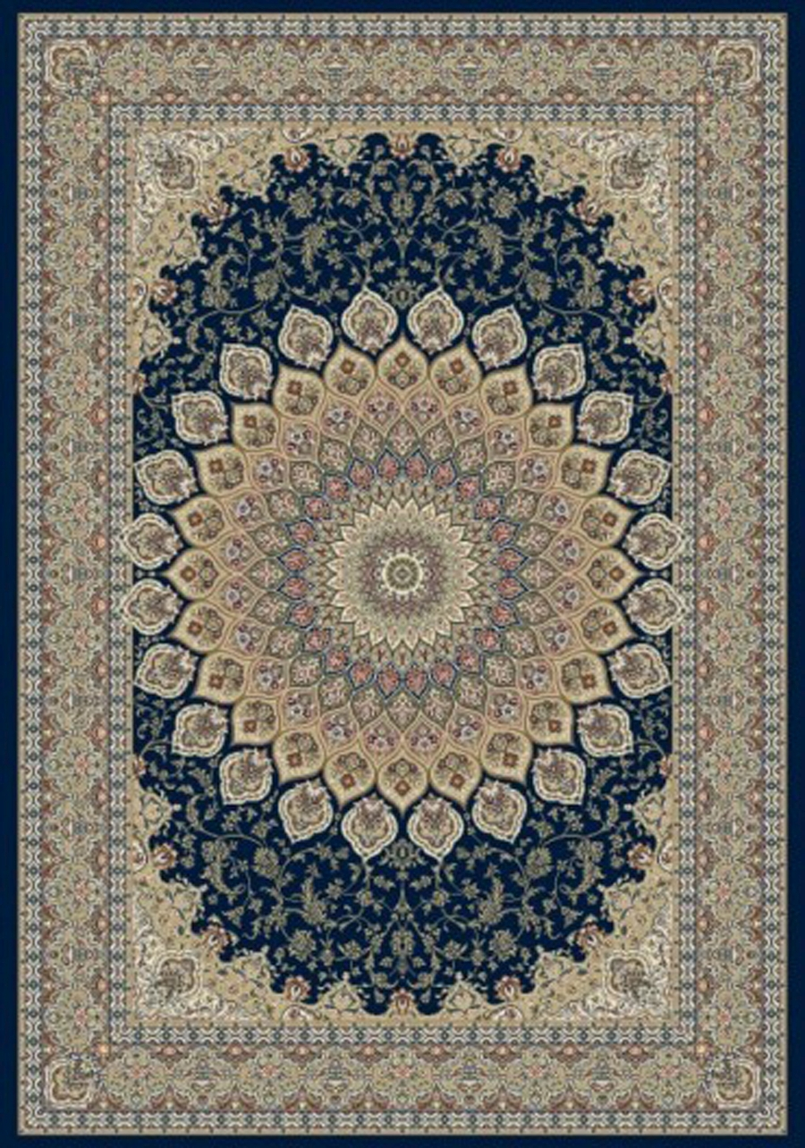 Dynamic Ancient Garden 57090 3484 Navy Area Rug