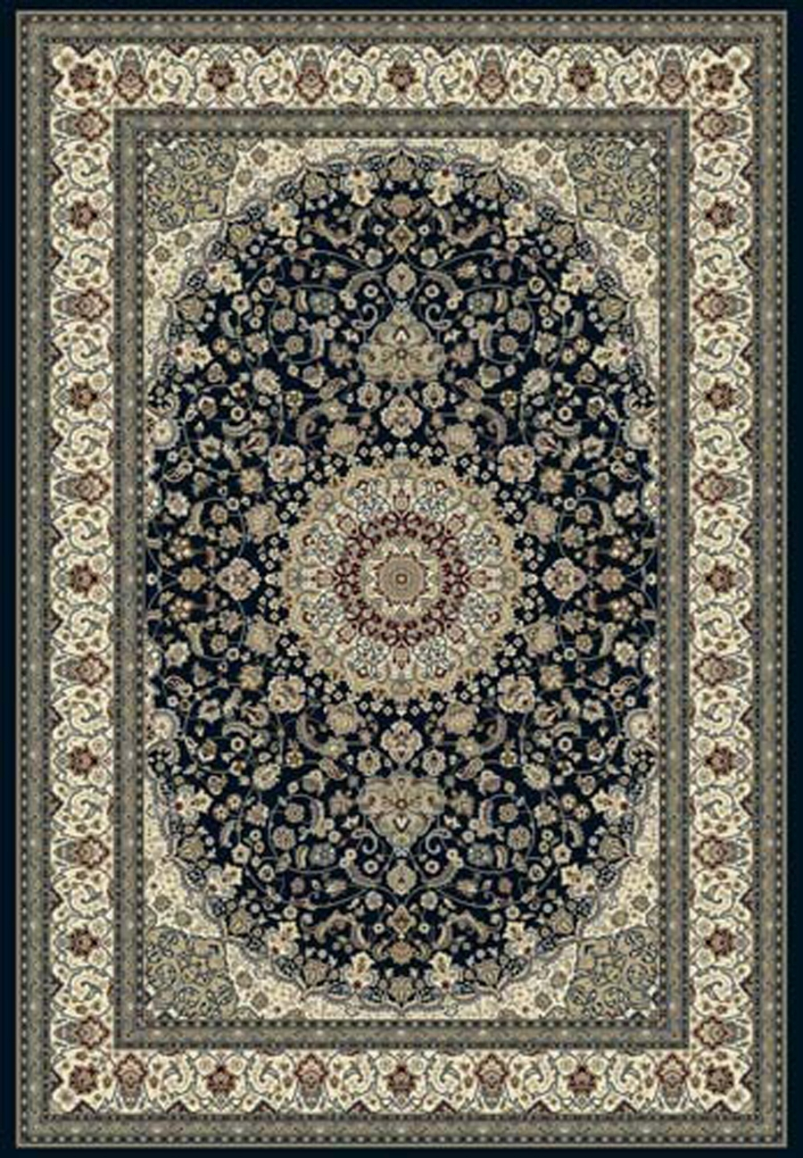 Dynamic Ancient Garden 57119 3434 Blue Ivory Area Rug