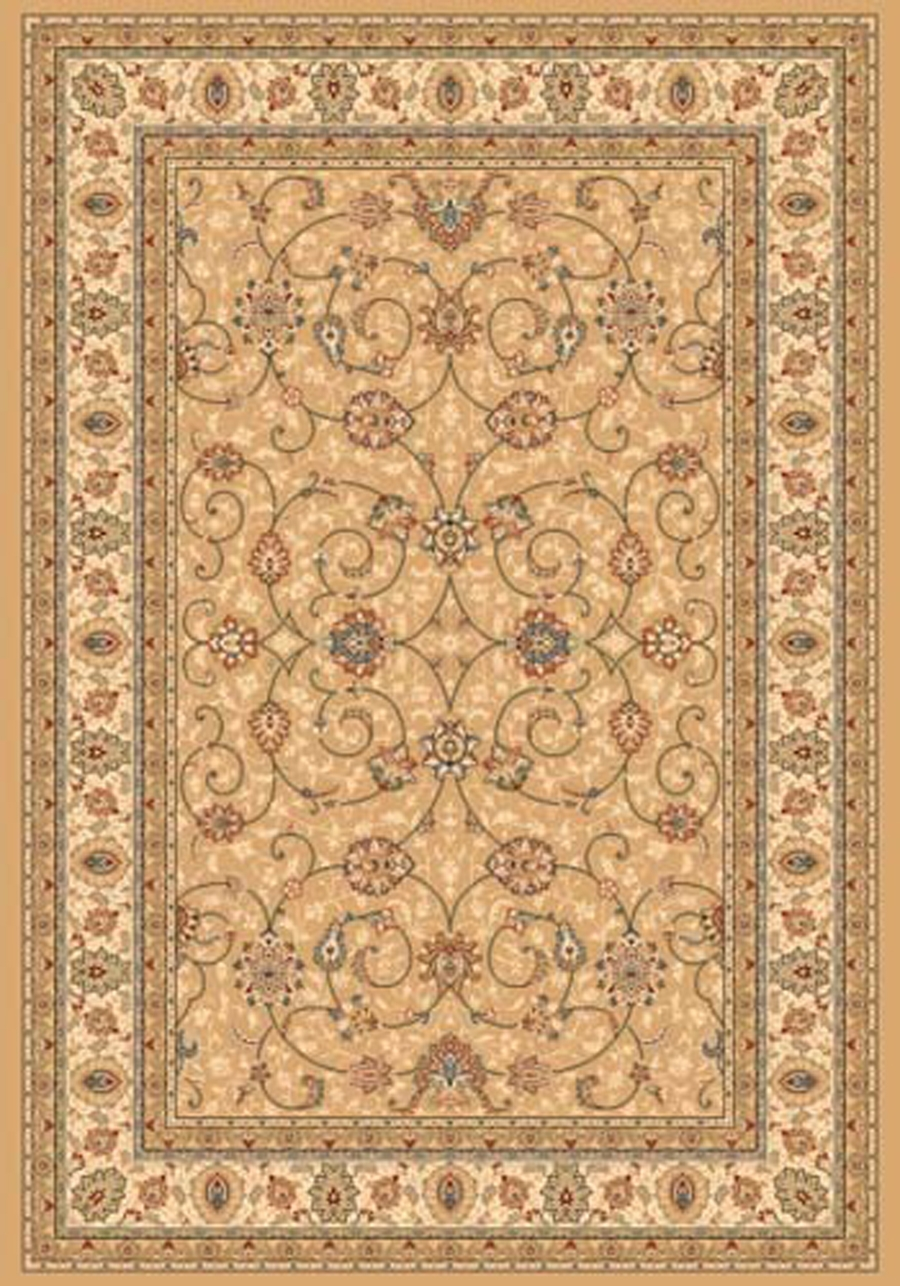 Dynamic Ancient Garden 57120 2464 Light Gold Ivory Area Rug