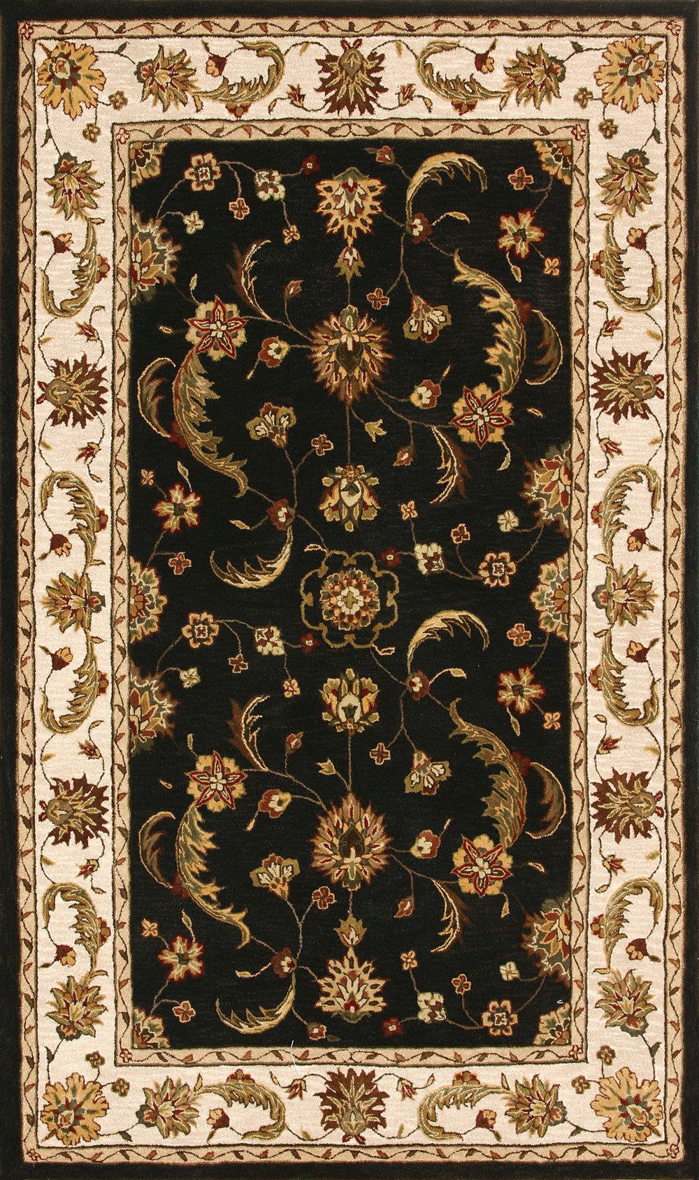 Charcoal Beige 70113 808 Jewel Rug By Dynamic
